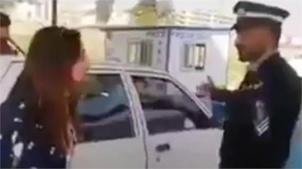 muslim girl viral video punjabi policeman