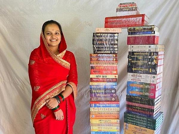daughter ask for many books her weight in dowry father