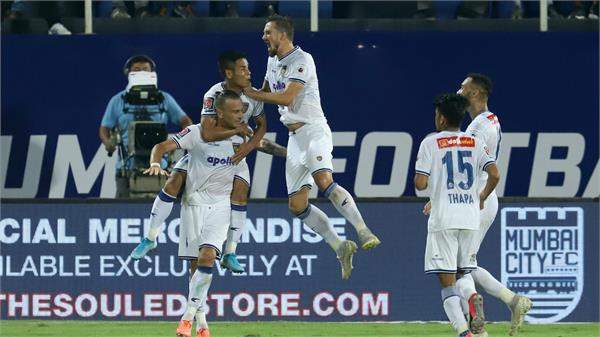 lucian goal broke mumbai s dream in chennai playoff