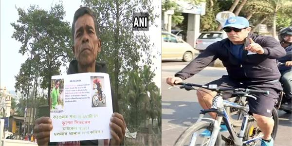 filmfare awards 2020  salman khan fan  52  cycles 600 km to meet the star