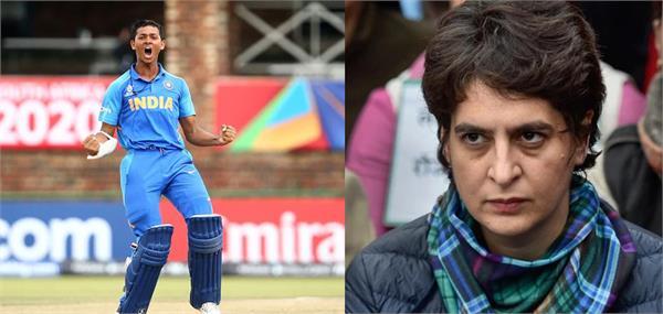 priyanka gandhi troll on twitter under 19 cricketer yashasvi jaiswal