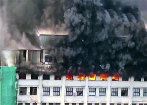 fire breaks out at gst bhawan in mumbai