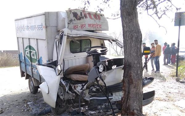 the truck hit killing the driver