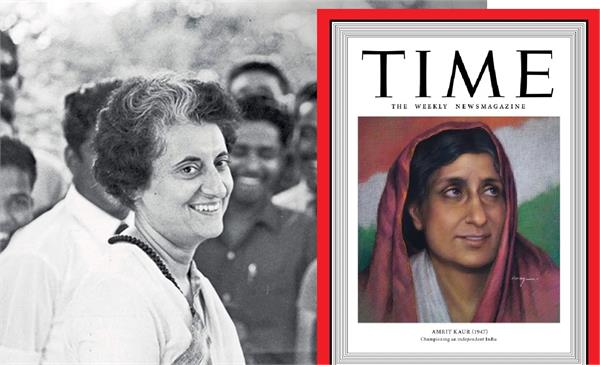 indira gandhi and amrit kaur join time magazine  s   woman of the year   list