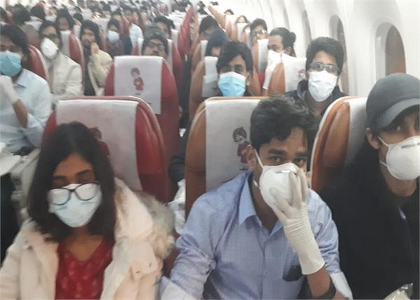 218 indians landed from milan italy at delhi airport