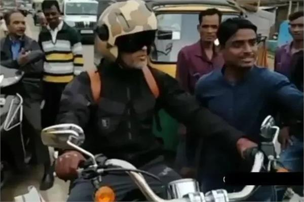 ms dhoni rides bike in ranchi after csk practice session canceled