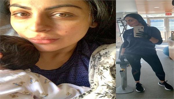 neeru bajwa shared pics with new born twins babies