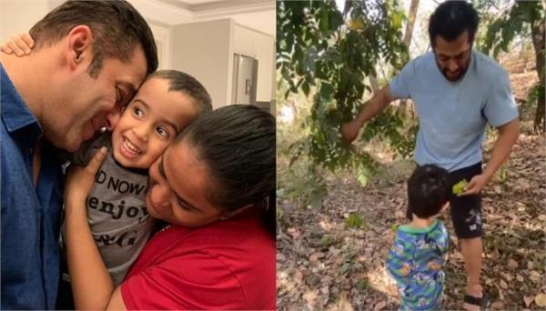 salman khan spending time with nephew ahil