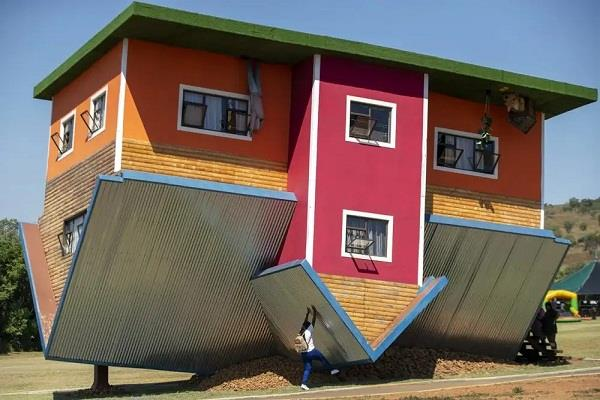 south africa upside down house