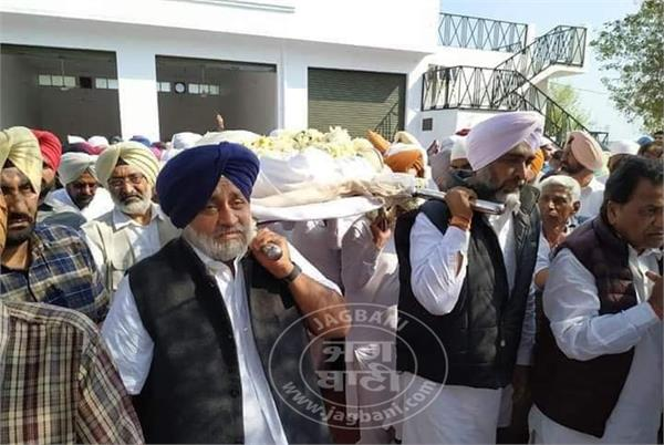 manpreet badal mother funeral