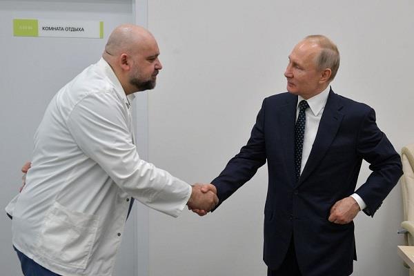 russian hospital chief who met putin coronavirus