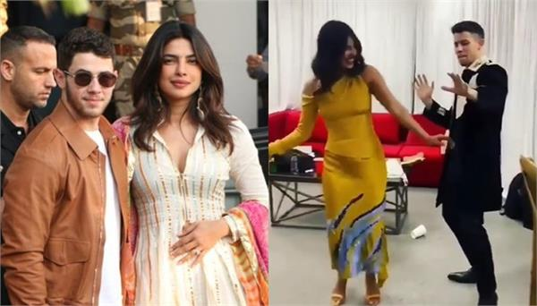 priyanka chopra husband nick jonas dancing on bollywood