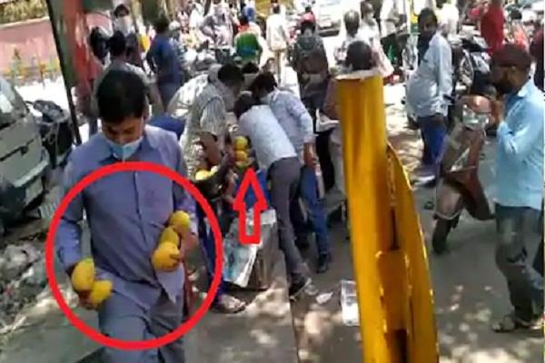 mangoes loot in delhi from street vendor by crowd